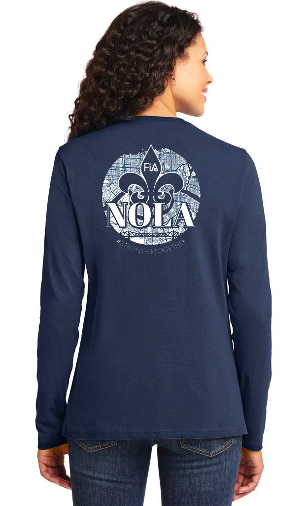 FiA NOLA Port & Company Ladies Long Sleeve Cotton Tee Pre-Order