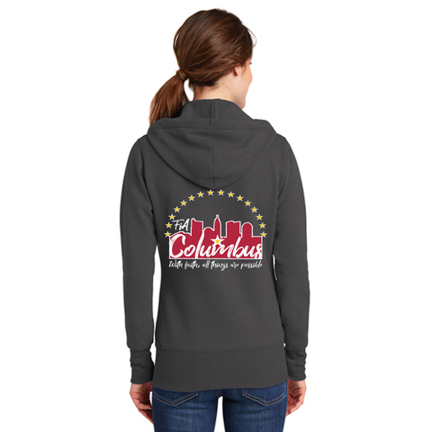 FiA Columbus Port & Company Ladies Core Fleece Full-Zip Hooded Sweatshirt Pre-Order