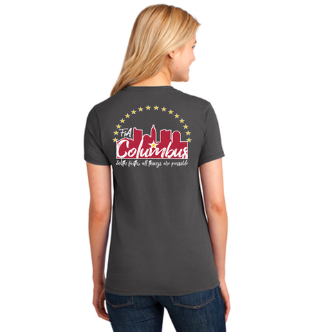 FiA Columbus Port & Company Ladies Core Cotton Tee Pre-Order