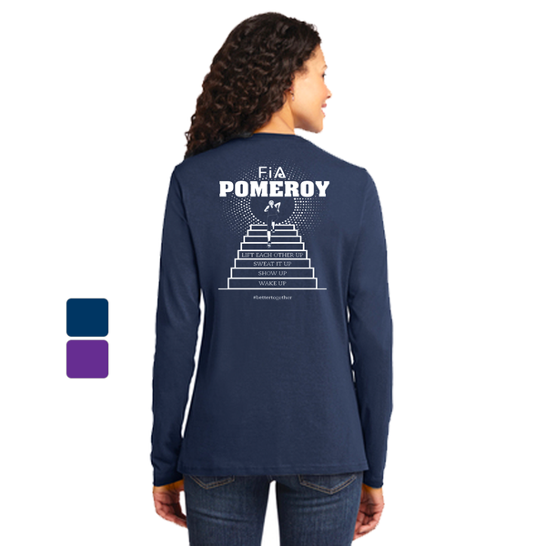 FiA Pomeroy Port & Company Ladies Long Sleeve Cotton Tee Pre-Order