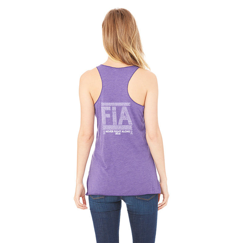 FiA Ribbon - Never Alone 2018: Bella+Canvas Women's TriBlend Racerback Tank Pre-Order