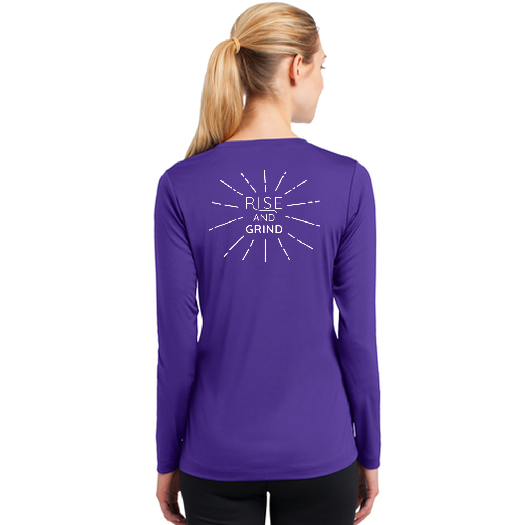 FiA Rise and Grind Sport-Tek Ladies Long Sleeve PosiCharge Competitor V-Neck Tee Pre-Order