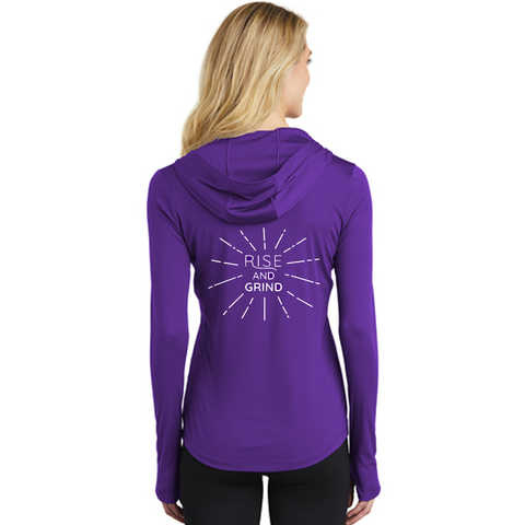 FiA Rise and Grind Sport-Tek Ladies PosiCharge Competitor Hooded Pullover Pre-Order