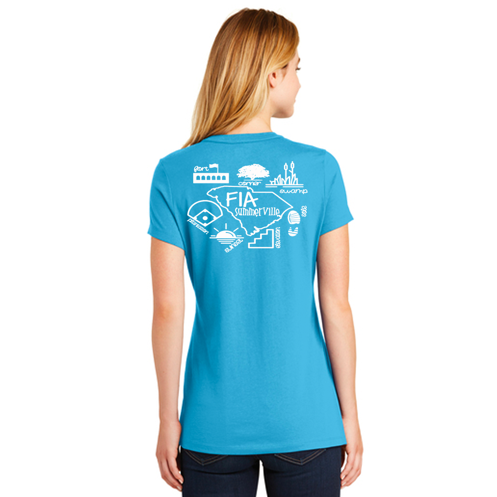 FiA Summerville AO Shirt - New Era Ladies Heritage Blend Crew Tee Pre-Order
