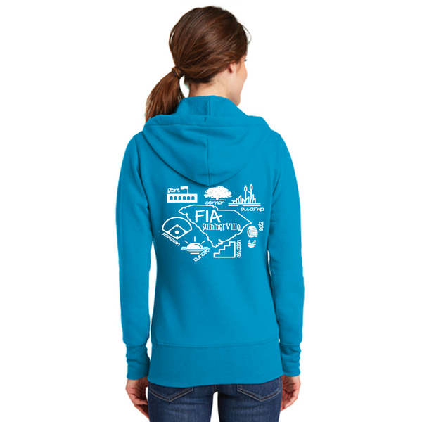 FiA Summerville AO Shirt - Port & Company Ladies Core Fleece Full-Zip Hooded Sweatshirt Pre-Order