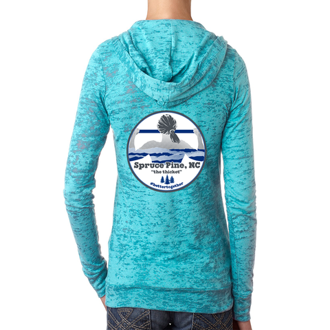 FiA Spruce Pine Next Level Women's Burnout Hoody Pre-Order