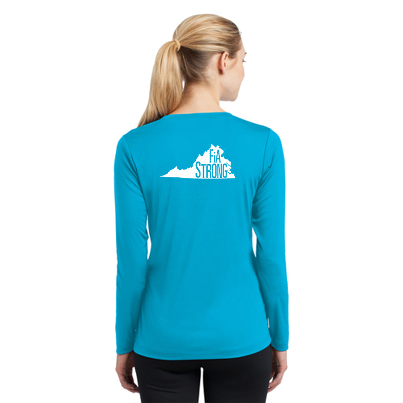 FiA Strong - Virginia Sport-Tek Ladies Long Sleeve Competitor V-Neck Tee Pre-Order