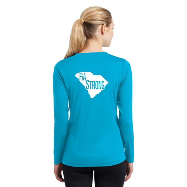 FiA Strong - SC Sport-Tek Ladies Long Sleeve Competitor V-Neck Tee Pre-Order
