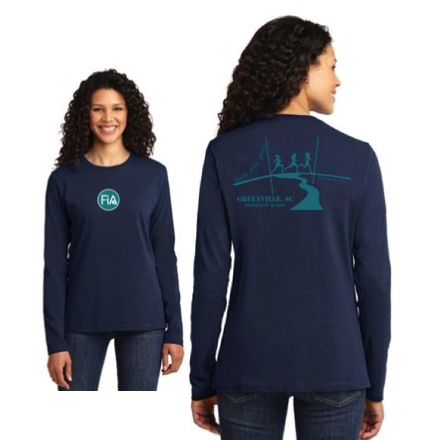 FiA Greenville Port & Company Ladies Long Sleeve Cotton Tee Pre-Order