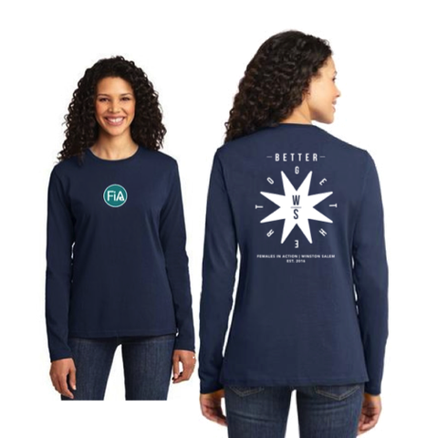 FiA Winston-Salem Port & Company Ladies Long Sleeve Cotton Tee Pre-Order