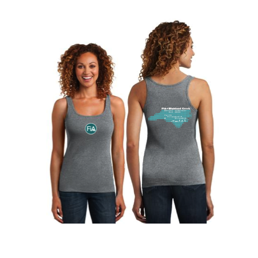FiA Highland Creek District Made Women's Racerback Tee Pre-Order