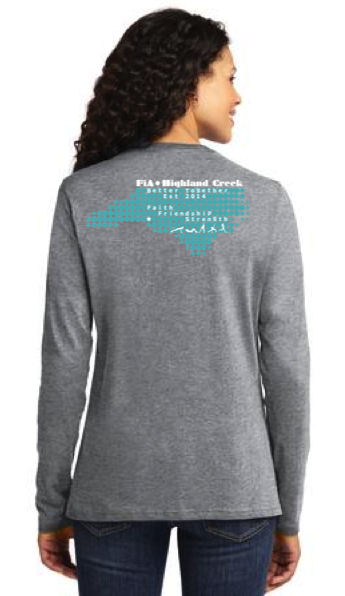 FiA Highland Creek Port & Company Ladies Long Sleeve Cotton Tee Pre-Order