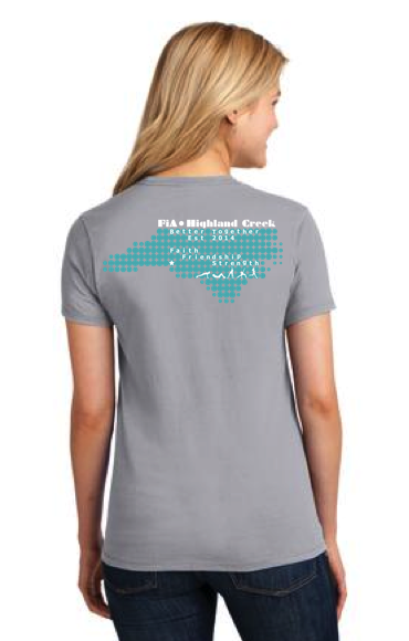 FiA Highland Creek Port & Company Ladies Short Sleeve Cotton Tee Pre-Order