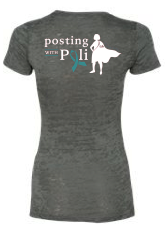 FiA Posting with Poli Next Level Ladies' Burnout Tee Pre-Order