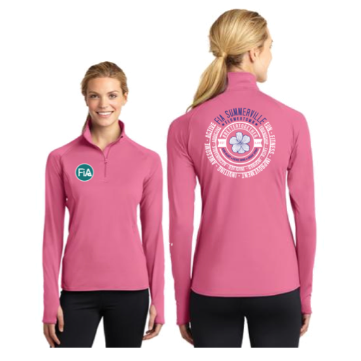FiA Summerville 2016 Sport-Tek Ladies Sport-Wick Stretch 1/2-Zip Pullover (Dusty Rose) Pre-Order