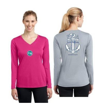 FiA Lexington Sport-Tek Women's Long Sleeve V-Neck Tee Pre-Order