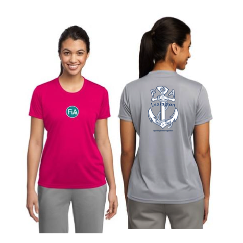 FiA Lexington Sport Tek Women's Performance Tee Pre-Order