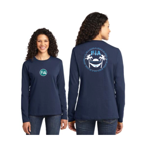FiA Pawleys Island Port & Company Ladies Long Sleeve Cotton Tee Pre-Order
