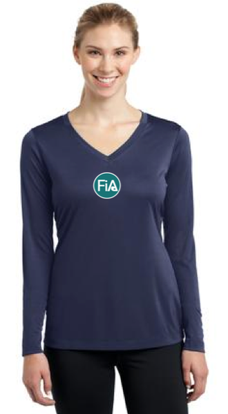 FiA Grand Strand Sport-Tek Women's Long Sleeve V-Neck Tee Pre-Order