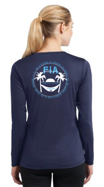 FiA Pawleys Island Sport-Tek Women's Long Sleeve V-Neck Tee Pre-Order
