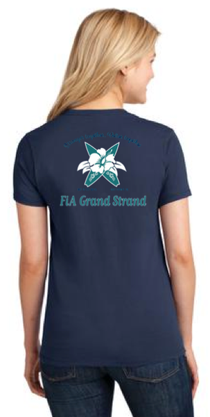FiA Grand Strand Port & Company Ladies Short Sleeve Cotton Tee Pre-Order