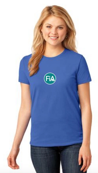 FiA Wild Blue Yonder Port & Company Ladies Short Sleeve Cotton Tee Pre-Order