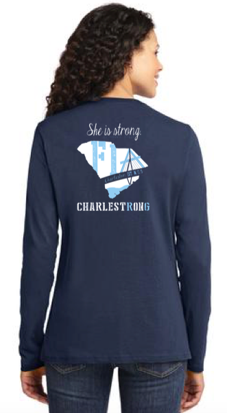 FiA Charleston Port & Company Ladies Long Sleeve Cotton Tee Pre-Order