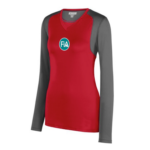 FiA Falcons Gauntlet Augusta Ladies Astonish Long Sleeve Jersey Pre-Order