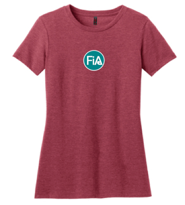 FiA Falcons Gauntlet District Made Ladies Perfect Blend Crew Tee Pre-Order