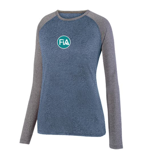 FiA - TN: Johnson City Augusta Ladies Kinergy Two Color Long Sleeve Raglan Tee Pre-Order