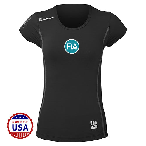 FiA MudGear Women's Performance Short Sleeve (Black) - Made to Order