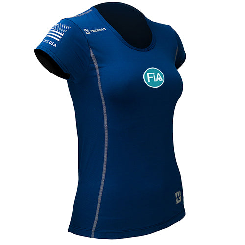 FiA MudGear Women's Performance Short Sleeve (Navy) - Made to Order