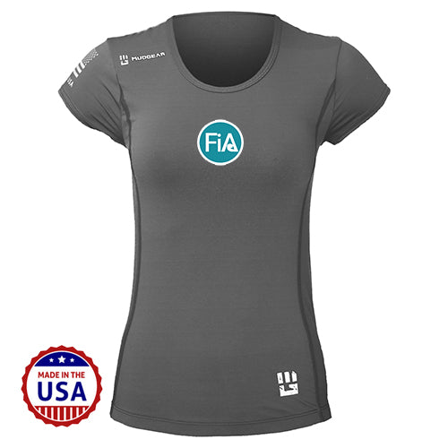 FiA MudGear Women's Performance Short Sleeve (Steel Gray) - Made to Order