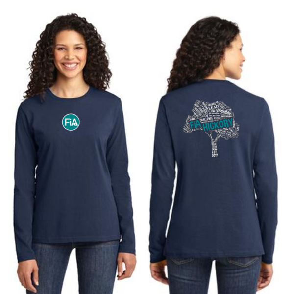 FiA Hickory Port & Company Ladies Long Sleeve Cotton Tee Pre-Order