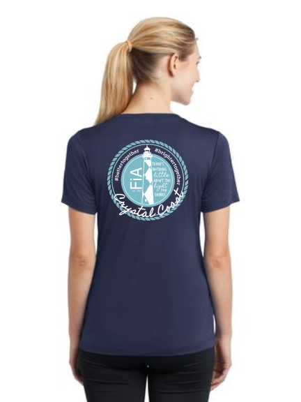 FiA Crystal Coast Sport-Tek Women's Short Sleeve V-Neck Tee Pre-Order