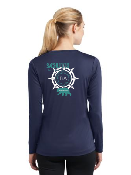 FiA South Charlotte Sport-Tek Ladies Long Sleeve Competitor V-Neck Tee Pre-Order
