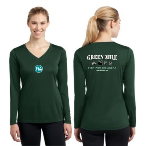 FiA Green Mile Sport-Tek Ladies Long Sleeve Competitor V-Neck Tee Pre-Order