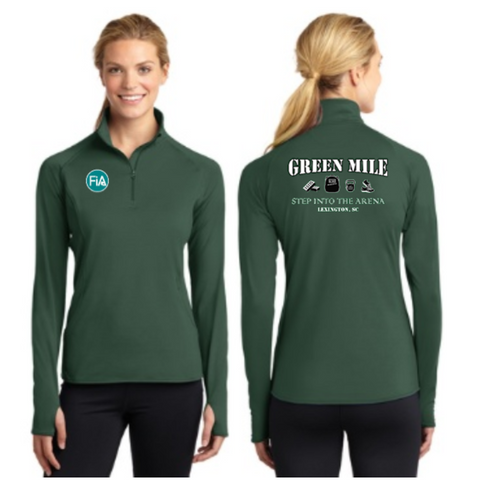 FiA Green Mile Sport-Tek Ladies Sport-Wick Stretch 1/2-Zip Pullover Pre-Order