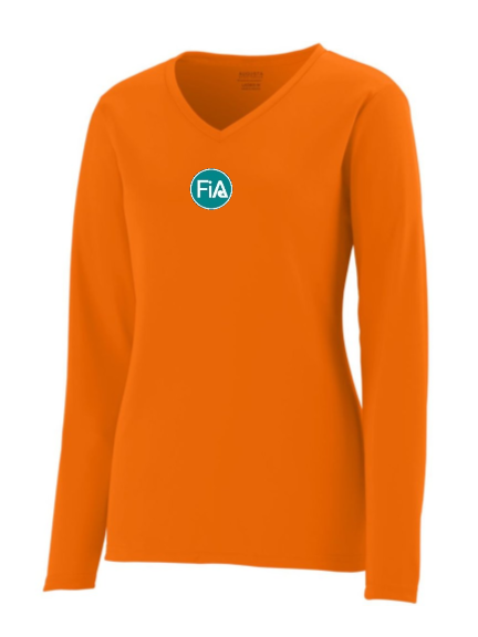 FiA Sunrise Scramblers Augusta Ladies Long Sleeve Wicking Shirt Pre-Order