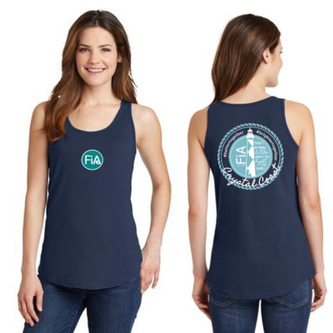 FiA Crystal Coast Ladies Cotton Tank Top Pre-Order