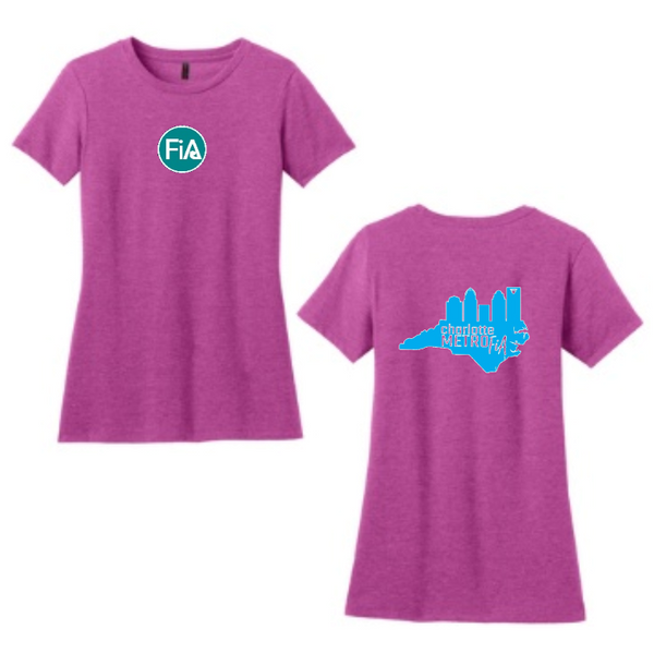FiA Metro District Made Ladies Perfect Blend Crew Tee Pre-Order