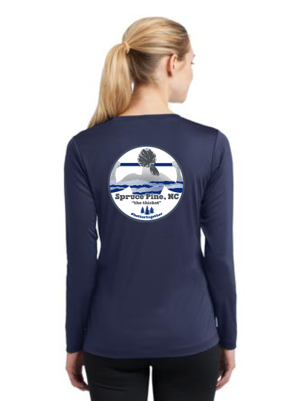 FiA Spruce Pine Sport-Tek Ladies Long Sleeve Competitor V-Neck Tee Pre-Order