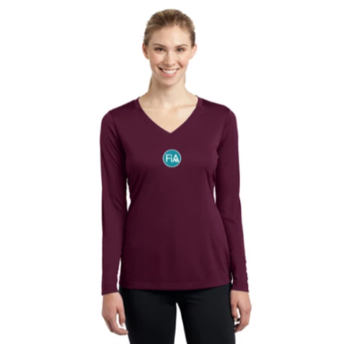 FiA Strong - OH Sport-Tek Ladies Long Sleeve Competitor V-Neck Tee Pre-Order