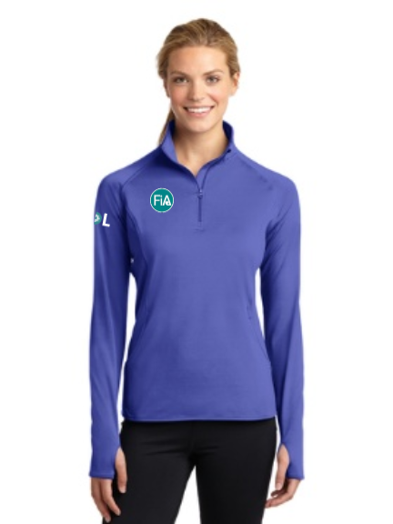 FiA Toledo: The Glass City Marathon Sport-Tek Ladies Sport-Wick Stretch 1/2-Zip Pullover Pre-Order