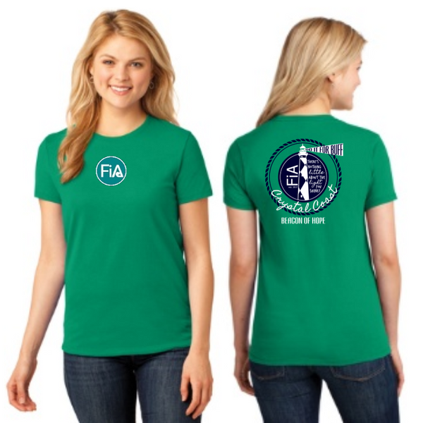 FiA Crystal Coast Event Shirt Port & Company Ladies Core Cotton Tee Pre-Order