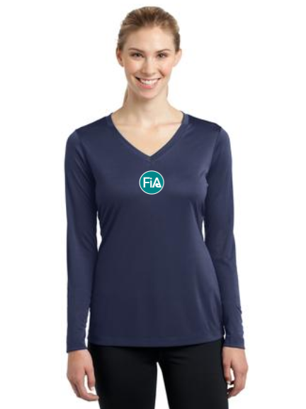 FiA Washington Sport-Tek Ladies Long Sleeve Competitor V-Neck Tee Pre-Order