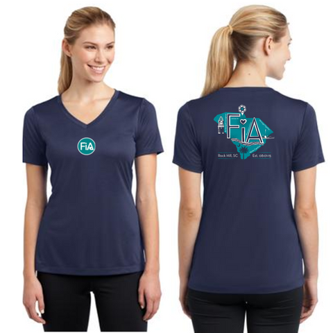 FiA Rock Hill Sport-Tek Women's Short Sleeve V-Neck Tee Pre-Order