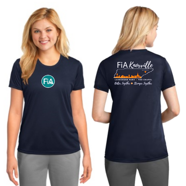 FiA Knoxville Port & Company Ladies Performance Tee Pre-Order
