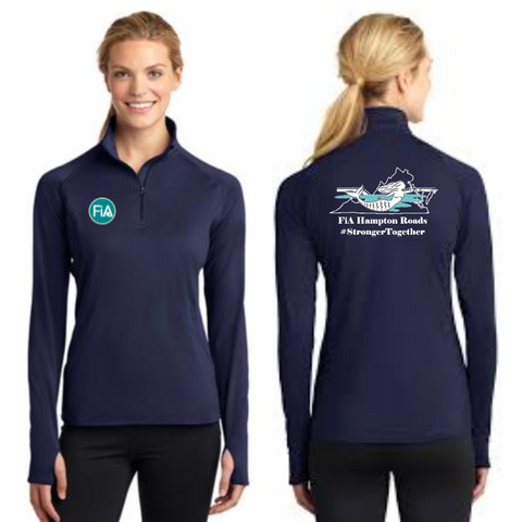 FiA Hampton Roads Sport-Tek Ladies Sport-Wick Stretch 1/2-Zip Pullover Pre-Order