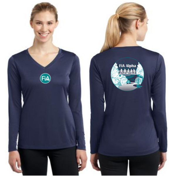 FiA Alpha Sport-Tek Ladies Long Sleeve Competitor V-Neck Tee Pre-Order